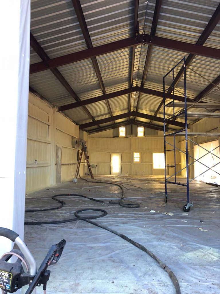 metal buildings spray foam insulation abilene texas